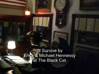 Erica sings, I'll Survive.