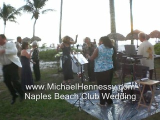 Erica sings, We Are Family at Naple Beach Club.