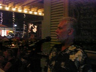 Michael sings, Volare at Tommy Bahamas, Naples FL.